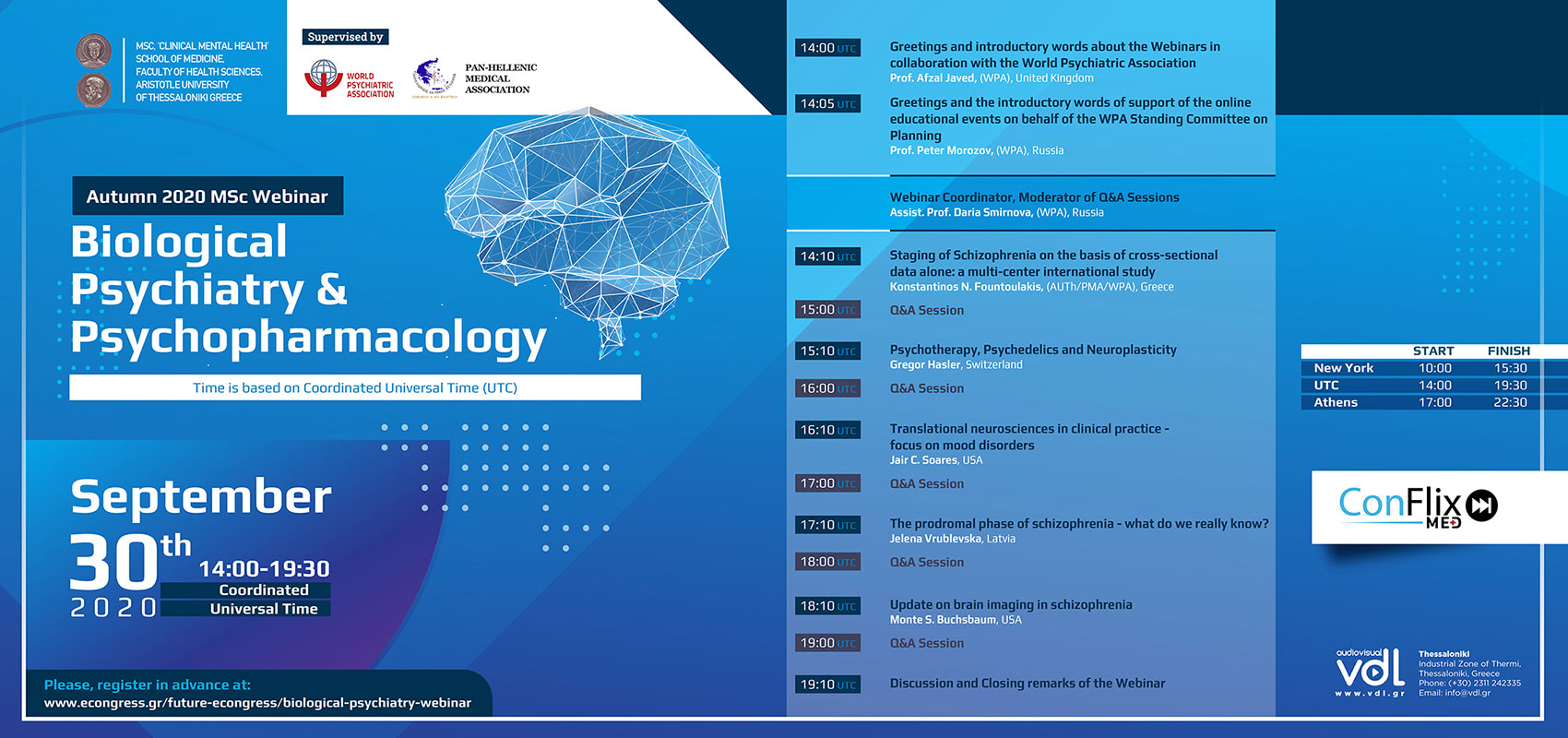 Autumn 2020 MSc Webinar - Biological Psychiatry & Psychopharmacology