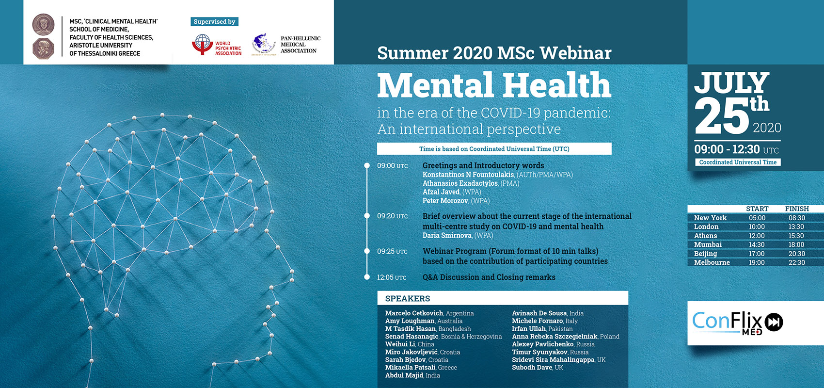 Summer 2020 MSc Webinar - Mental Health in the era of the COVID-19 pandemic: An international perspective